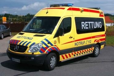 Rettungswagen von Ellrich im Original