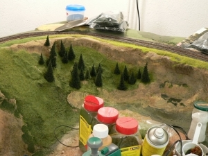 Landschaftsbau mit Streupulver